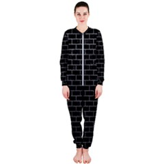Brick1 Black Marble & Gray Onepiece Jumpsuit (ladies)