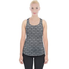 Brick1 Black Marble & Gray Leather (r) Piece Up Tank Top