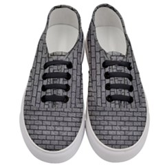 Brick1 Black Marble & Gray Leather (r) Women s Classic Low Top Sneakers
