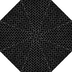 Brick2 Black Marble & Gray Leather Hook Handle Umbrellas (medium)