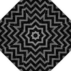 Chevron9 Black Marble & Gray Leather Hook Handle Umbrellas (large)