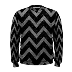 Chevron9 Black Marble & Gray Leather Men s Sweatshirt