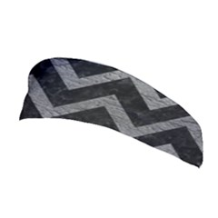 Chevron9 Black Marble & Gray Leather Stretchable Headband