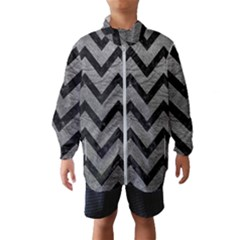 Chevron9 Black Marble & Gray Leather (r) Wind Breaker (kids)