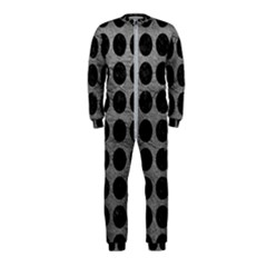 Circles1 Black Marble & Gray Leather (r) Onepiece Jumpsuit (kids)