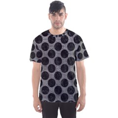 Circles2 Black Marble & Gray Leather (r) Men s Sports Mesh Tee