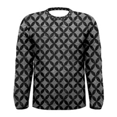 Circles3 Black Marble & Gray Leather (r) Men s Long Sleeve Tee