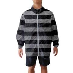 Stripes2 Black Marble & Gray Leather Wind Breaker (kids)