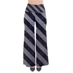 Stripes3 Black Marble & Gray Leather (r) Pants