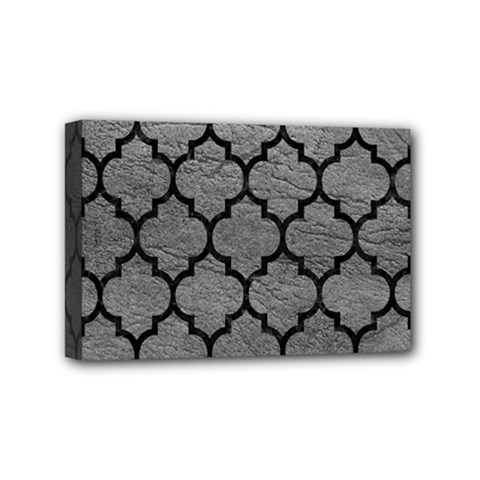 Tile1 Black Marble & Gray Leather (r) Mini Canvas 6  X 4