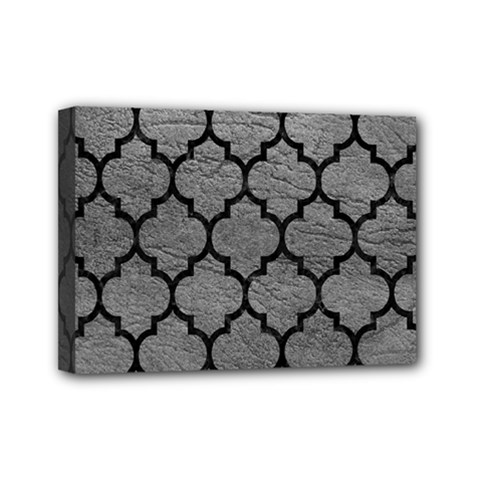 Tile1 Black Marble & Gray Leather (r) Mini Canvas 7  X 5