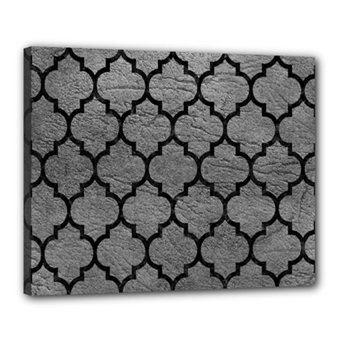 Tile1 Black Marble & Gray Leather (r) Canvas 20  X 16