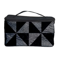 Triangle1 Black Marble & Gray Leather Cosmetic Storage Case