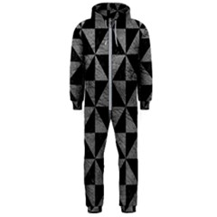 Triangle1 Black Marble & Gray Leather Hooded Jumpsuit (men)