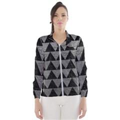 Triangle2 Black Marble & Gray Leather Wind Breaker (women)