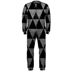 Triangle3 Black Marble & Gray Leather Onepiece Jumpsuit (men)