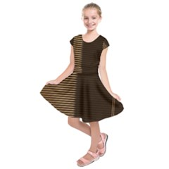 Gold Floral Art Nouveau Kids  Short Sleeve Dress
