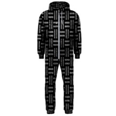 Woven1 Black Marble & Gray Leather Hooded Jumpsuit (men)