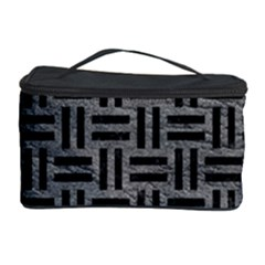 Woven1 Black Marble & Gray Leather (r) Cosmetic Storage Case