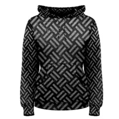 Woven2 Black Marble & Gray Leather Women s Pullover Hoodie