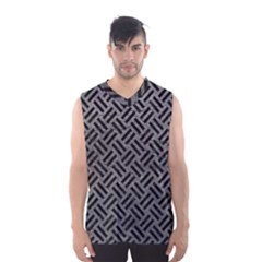 Woven2 Black Marble & Gray Leather (r) Men s Basketball Tank Top