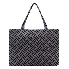 Woven2 Black Marble & Gray Leather (r) Medium Tote Bag