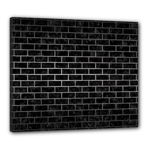 Brick1 Black Marble & Gray Metal 1 Canvas 24  X 20