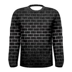 Brick1 Black Marble & Gray Metal 1 Men s Long Sleeve Tee