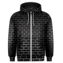 Brick1 Black Marble & Gray Metal 1 Men s Zipper Hoodie
