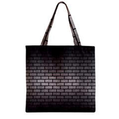 Brick1 Black Marble & Gray Metal 1 (r) Zipper Grocery Tote Bag