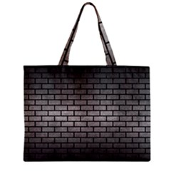 Brick1 Black Marble & Gray Metal 1 (r) Zipper Mini Tote Bag