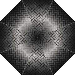 Brick2 Black Marble & Gray Metal 1 (r) Hook Handle Umbrellas (large)