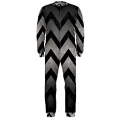 Chevron9 Black Marble & Gray Metal 1 (r) Onepiece Jumpsuit (men)