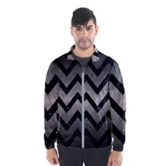 Chevron9 Black Marble & Gray Metal 1 (r) Wind Breaker (men)