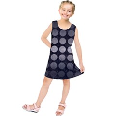 Circles1 Black Marble & Gray Metal 1 Kids  Tunic Dress