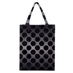 Circles2 Black Marble & Gray Metal 1 (r) Classic Tote Bag