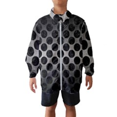 Circles2 Black Marble & Gray Metal 1 (r) Wind Breaker (kids)