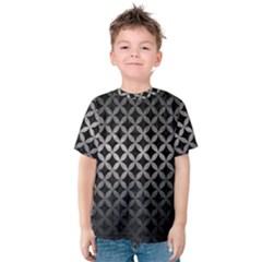 Circles3 Black Marble & Gray Metal 1 Kids  Cotton Tee