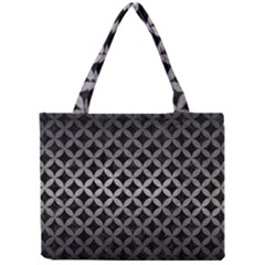 Circles3 Black Marble & Gray Metal 1 Mini Tote Bag