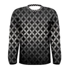 Circles3 Black Marble & Gray Metal 1 Men s Long Sleeve Tee