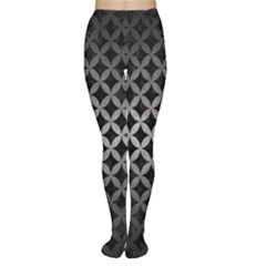 Circles3 Black Marble & Gray Metal 1 Women s Tights