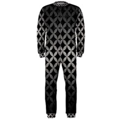 Circles3 Black Marble & Gray Metal 1 Onepiece Jumpsuit (men)