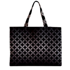 Circles3 Black Marble & Gray Metal 1 Medium Tote Bag