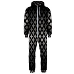 Circles3 Black Marble & Gray Metal 1 (r) Hooded Jumpsuit (men)