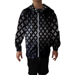 Circles3 Black Marble & Gray Metal 1 (r) Hooded Wind Breaker (kids)