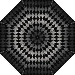 Diamond1 Black Marble & Gray Metal 1 Hook Handle Umbrellas (medium)