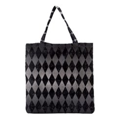 Diamond1 Black Marble & Gray Metal 1 Grocery Tote Bag