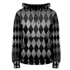 Diamond1 Black Marble & Gray Metal 1 Women s Pullover Hoodie