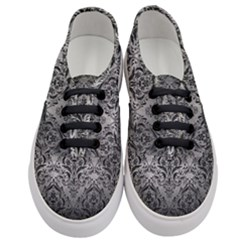 Damask1 Black Marble & Gray Metal 1 (r) Women s Classic Low Top Sneakers