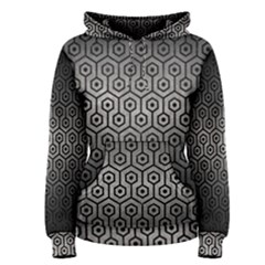 Hexagon1 Black Marble & Gray Metal 1 (r) Women s Pullover Hoodie